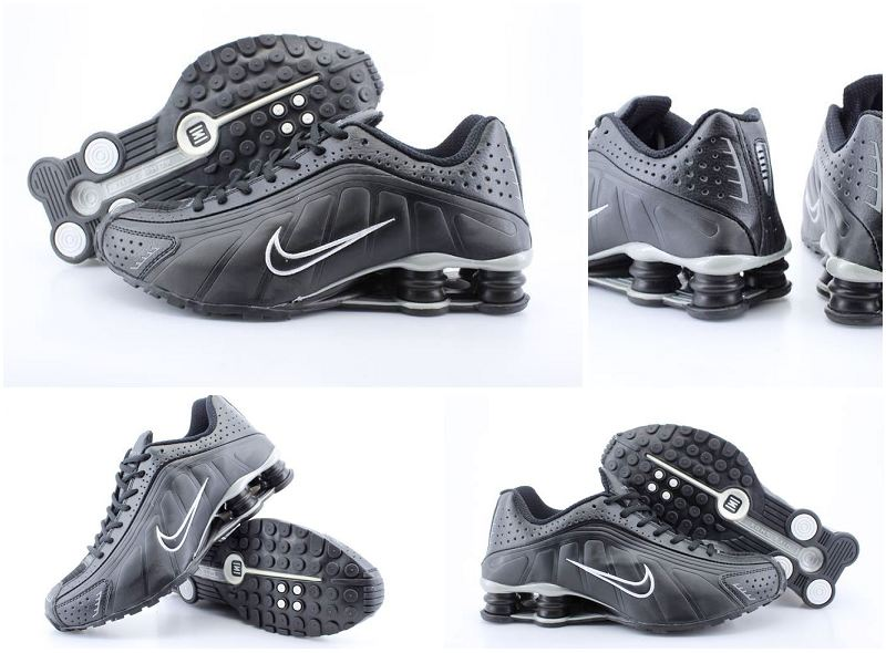 Nike Shox R4 Black White White Logo Women Shoes