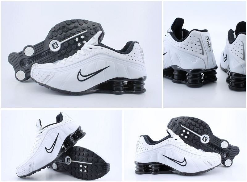 Nike Shox R4 White Black Black Lovers Shoes