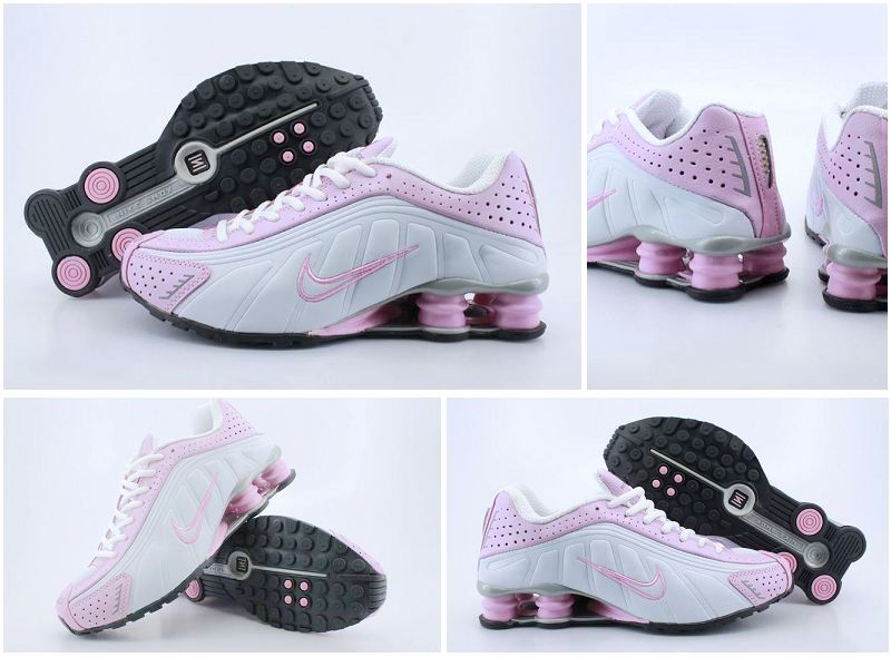 Nike Shox R4 White Pink Women Shoes
