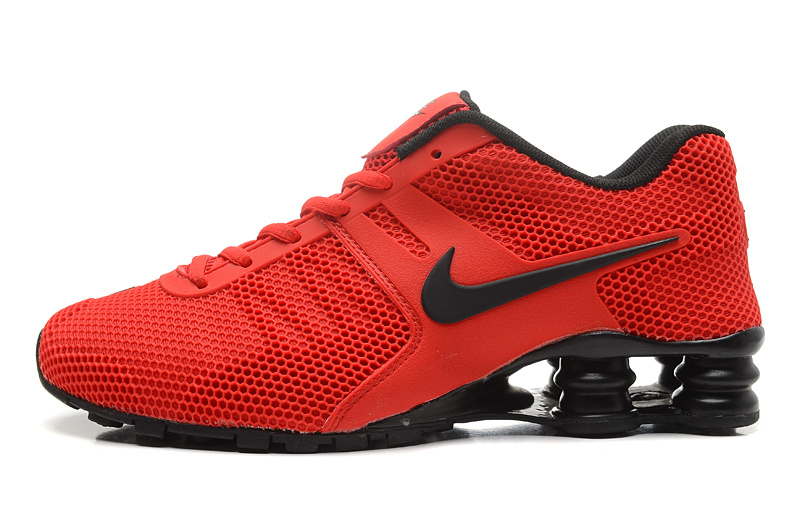 mens nike shox current red blue
