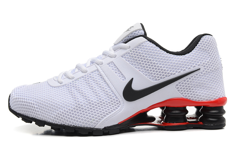 Nike Shox White Black Red Women SHoes