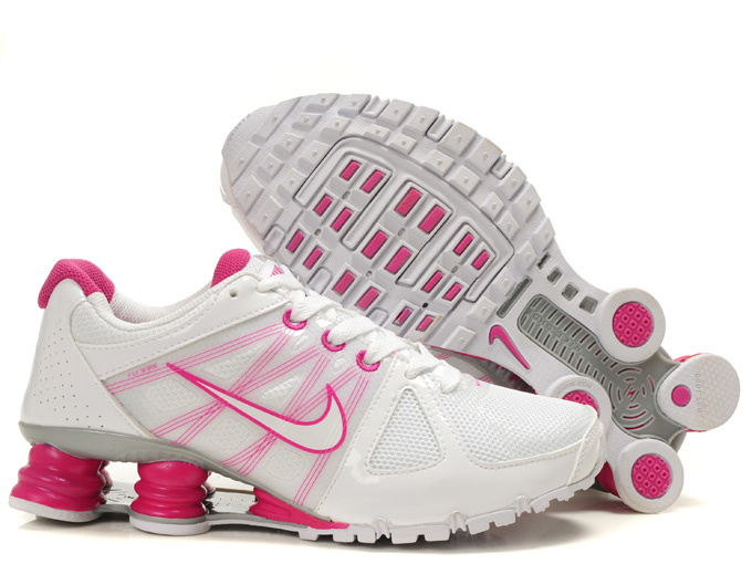 Nike Shox White Pink Women Shoes