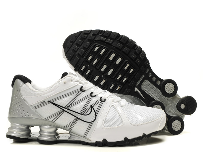 Nike Shox White Sliver Grey Shoes