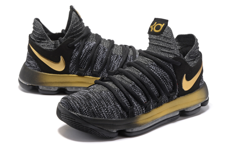Nike Zoom KD 10 Black Gloden Shoes