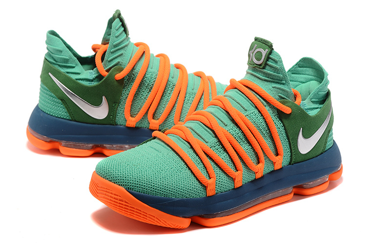 Nike Zoom KD 10 Natural Green Orange Shoes
