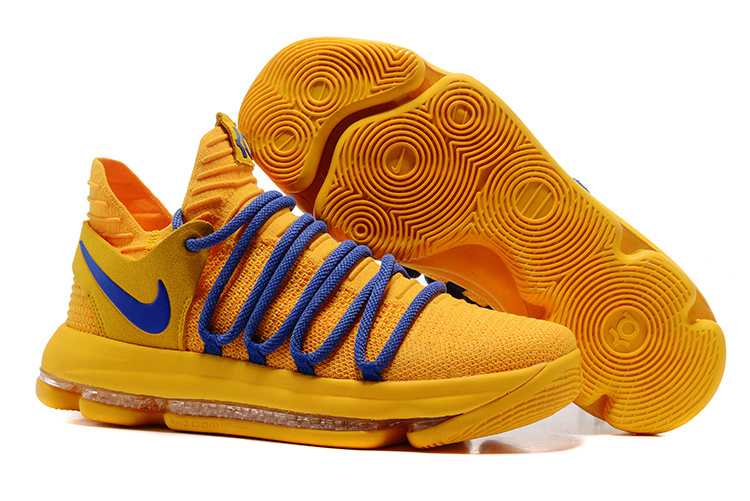 Nike Zoom KD 10 Warriors Yellow Shoes