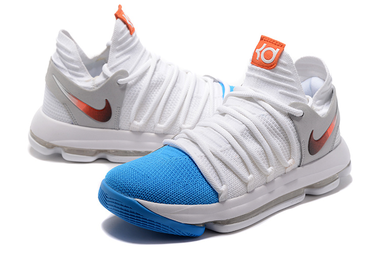 Nike Zoom KD 10 White Sky Blue Shoes