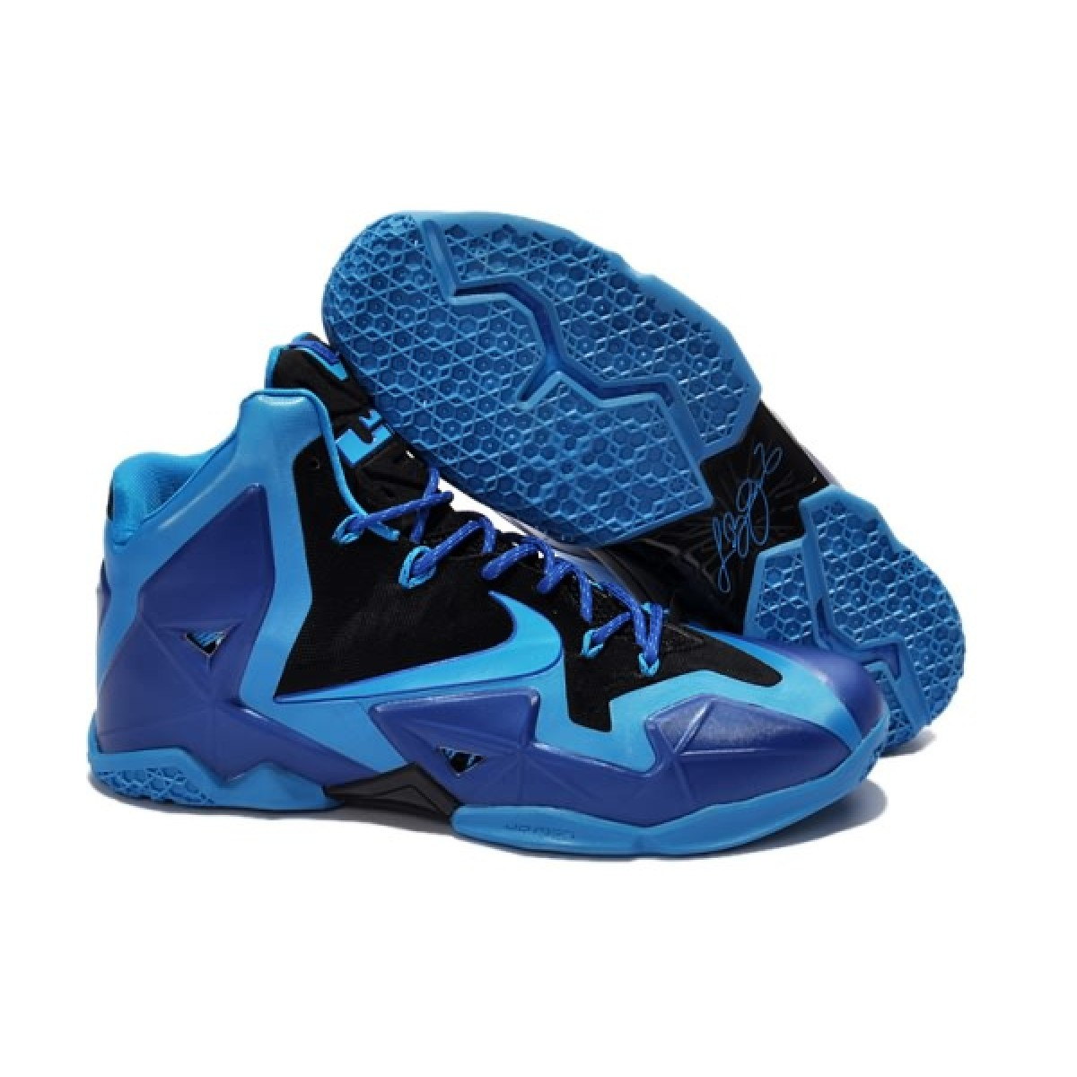 Nike Lebron 11 P.S Air Ma Royal Blue Purple Basketball Sneaker