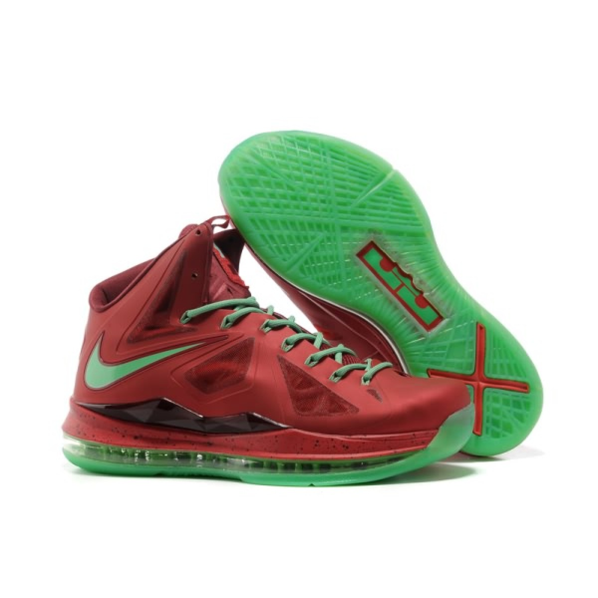Original Nike Lebron 10 Red Green Sneaker