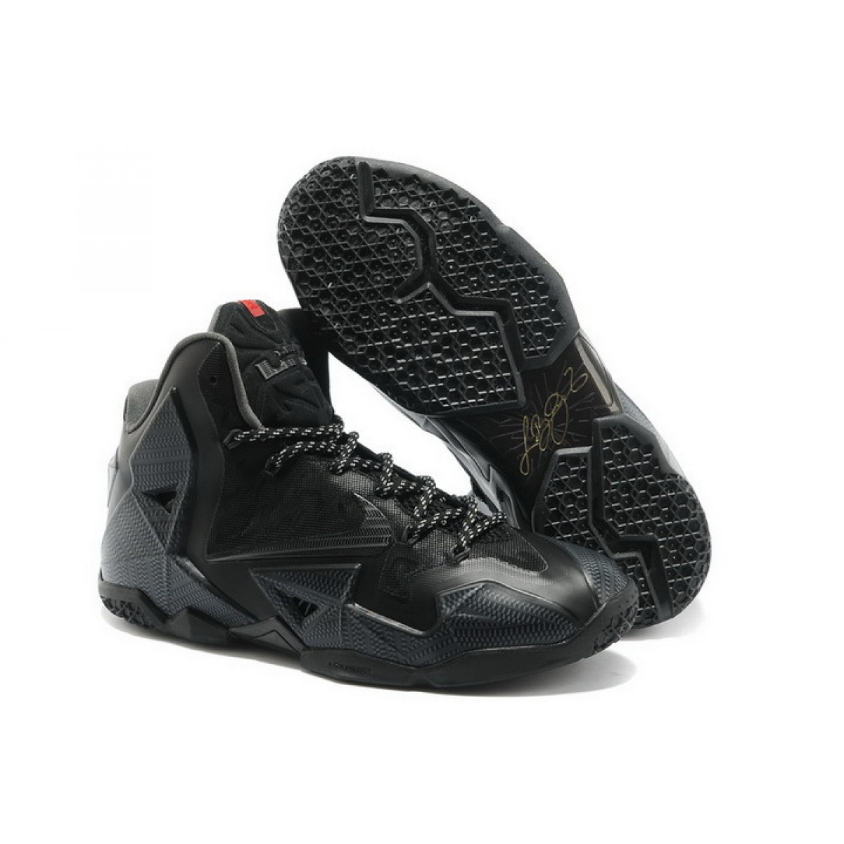 New Nike Lebron 11 All In Black Shoes On Sale