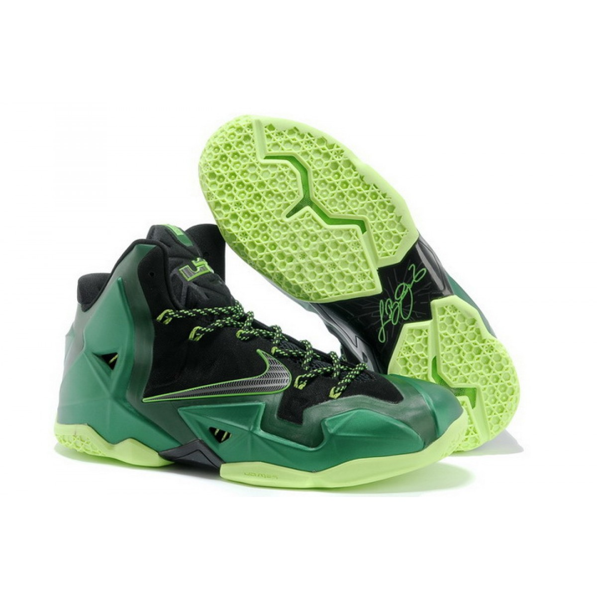 Nike Lebron 11 Dark Green Black Shoes
