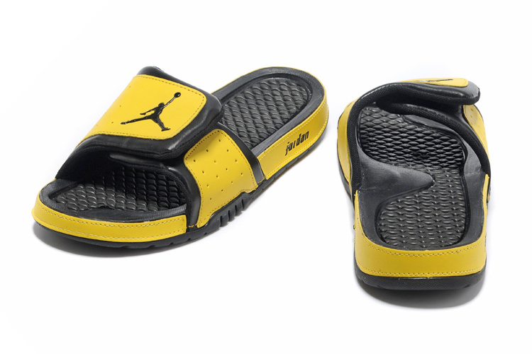Original 2013 Jordan Hydro 2 Classic Black Yellow Slipper