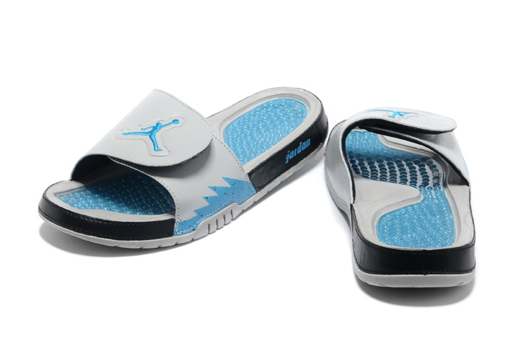 Original 2013 Jordan Hydro 2 Retro Grey Blue Black Slipper