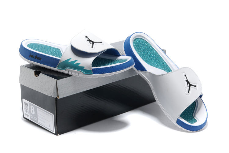 Original 2013 Jordan Hydro 2 Retro White Blue Slipper