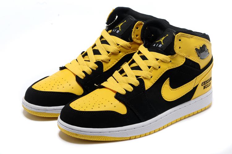 jordan retro 1 black and yellow