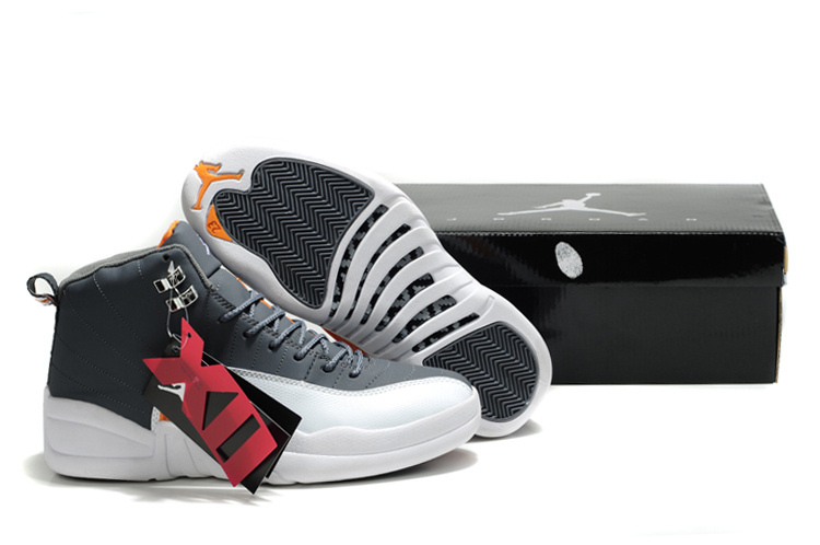 Original Air Jordans 12 Classic Black White Orange