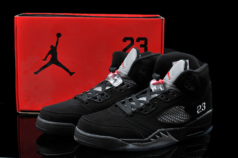 Original Hardback Air Jordan 5 Classic All Black