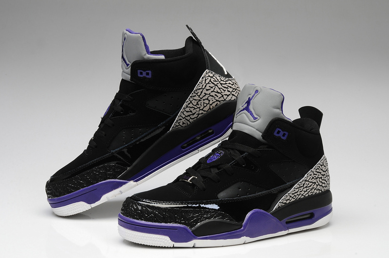 Original Jordan Spizike Retro Black Grey Purple White