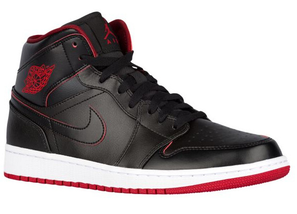 Original Jordans 1 Black Red Wite Retro Shoes