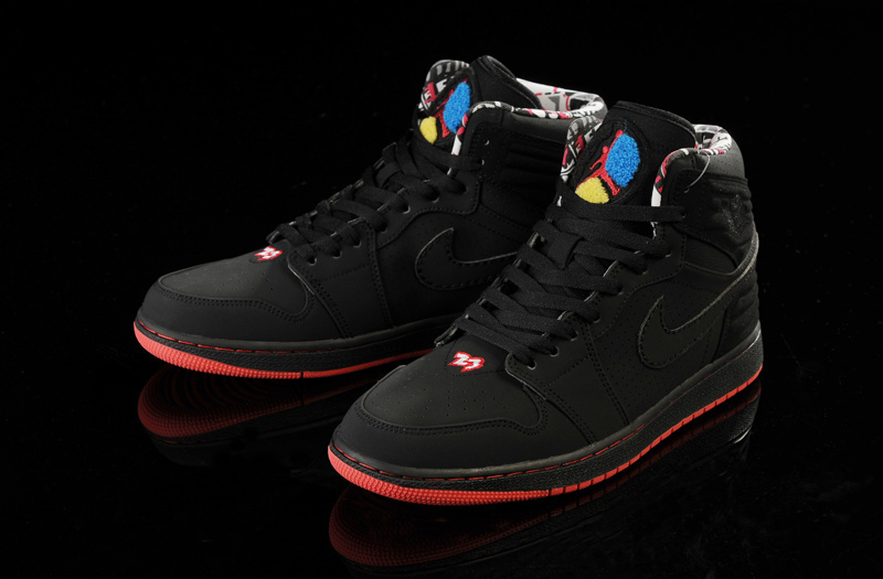 Original Jordans 1 Classic 93 Black Red