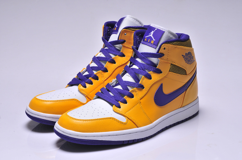 Original Jordans 1 Classic High Yellow Blue White_01