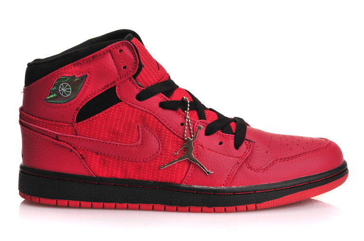 Original Jordans 1 Retro Inserted Air Cushion Red Black