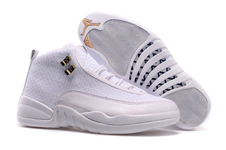 Original Jordans 12 Future All White Shoes