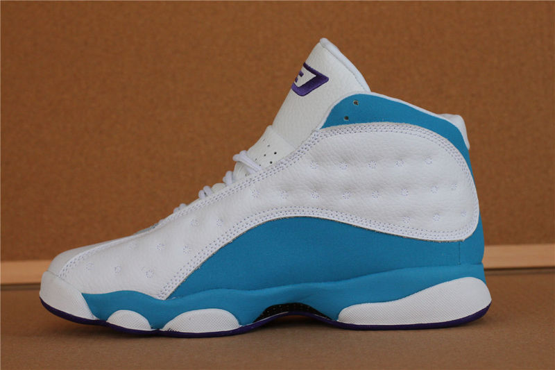 Original Jordans 13 CP3 White Baby Blue Basketball Shoes