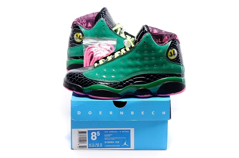 Original Jordans 13 Green Charity Shoes