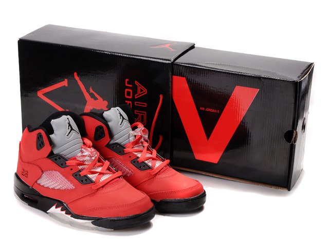 Original Jordans 5 Classic Hardcover Box Red Black White_05