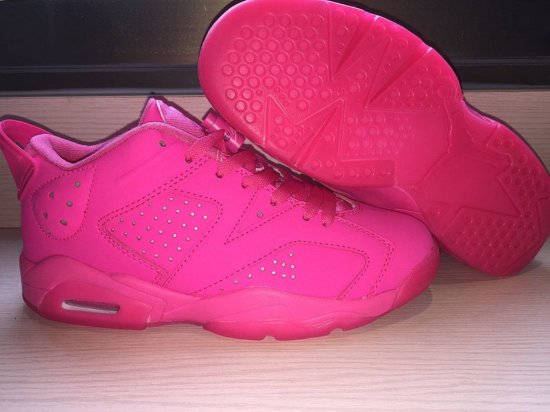 Original Jordans 6 Retro Low All Pink Shoes