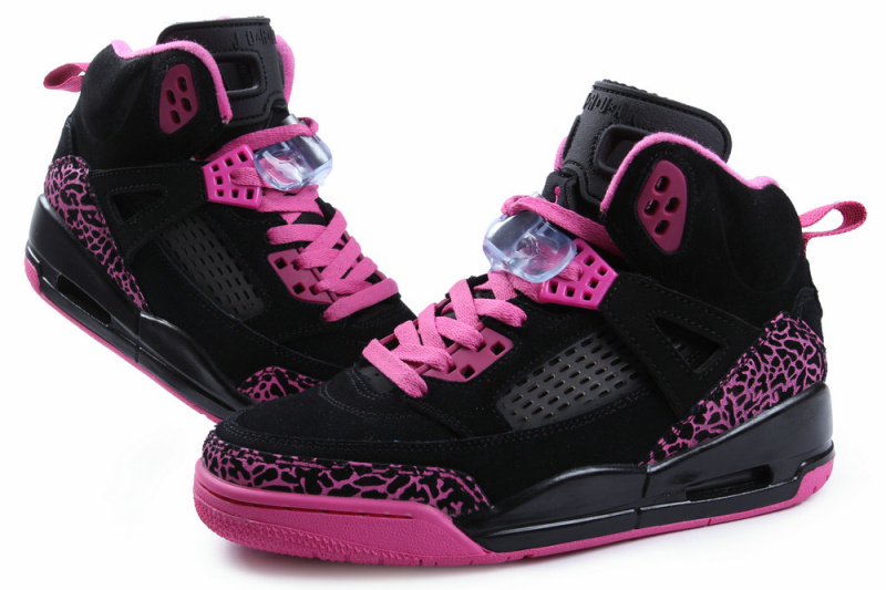 Original Jordans Spizike Retro Black Pink For Women