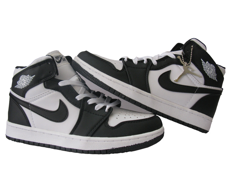 Original Retro Air Jordan 1 White Grey Shoes