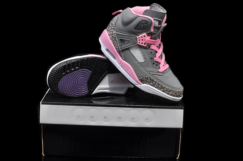 Original Womens And Girls Jordan 3.5 Retro Grey Pink White