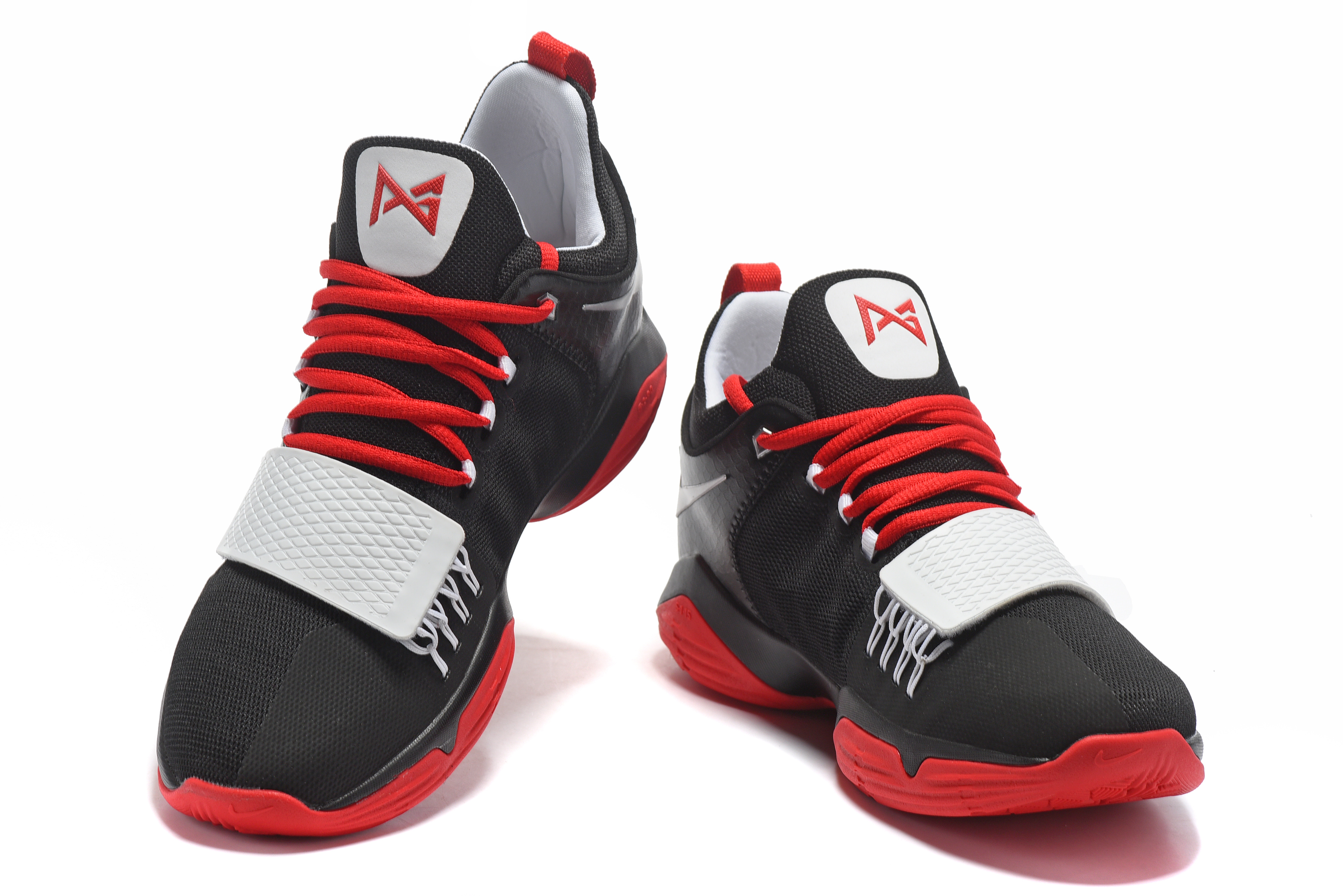 Paul George 1 Black Red Shoes