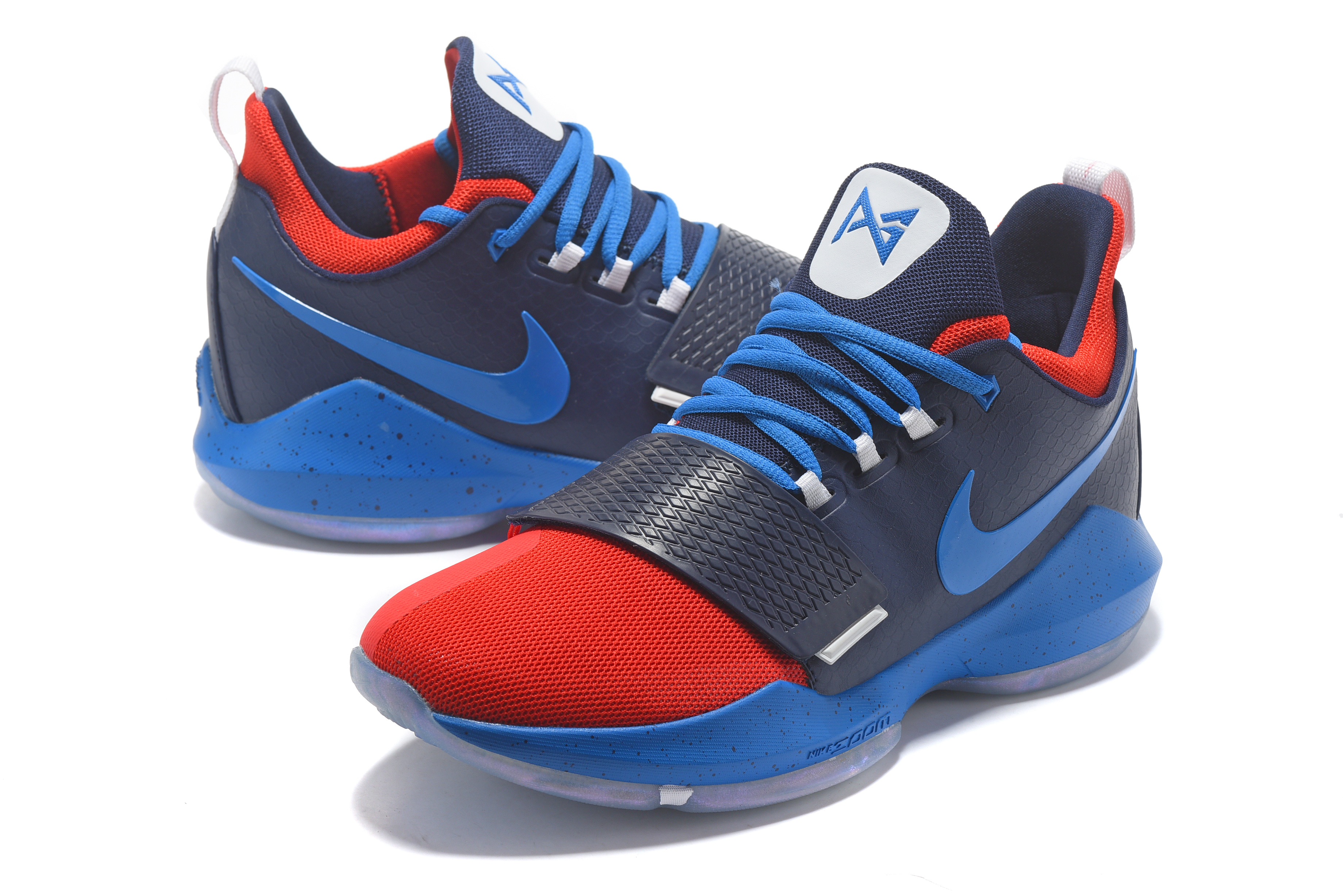 Paul George 1 Dark Blue Red Shoes