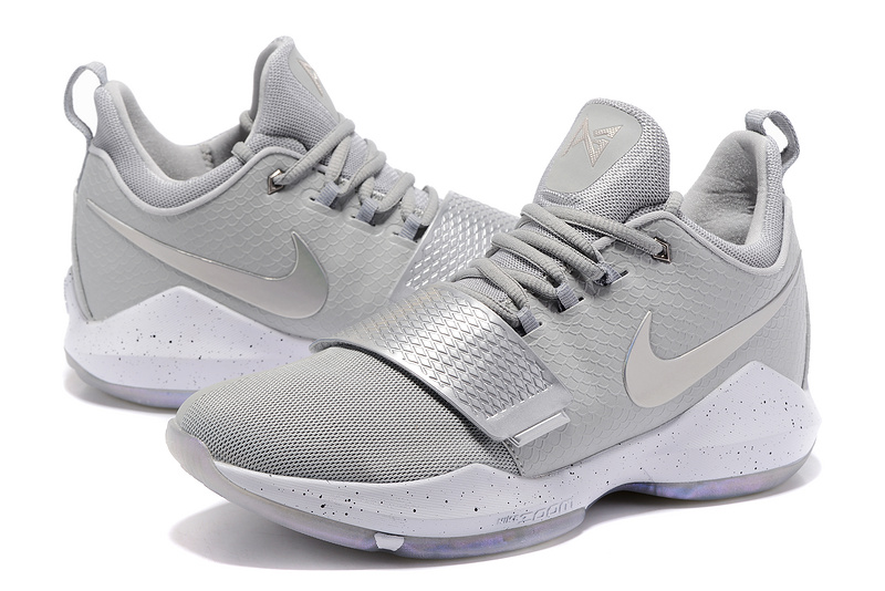 Paul George 1 Sliver Grey Shoes