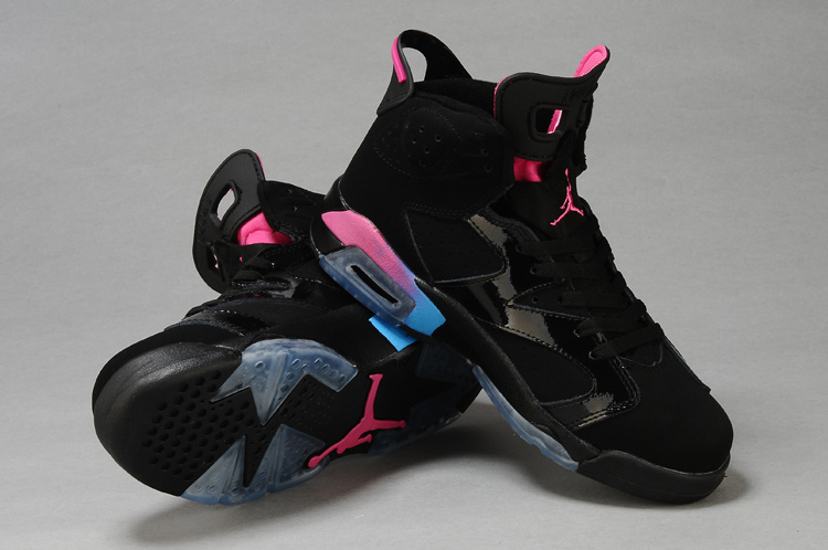 Retro Jordan 6 Original Black Pink For Women_06
