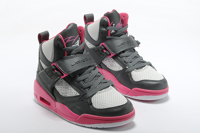 Retro Air Jordan Flight 4.5 Classic Black Grey Red For Women_05