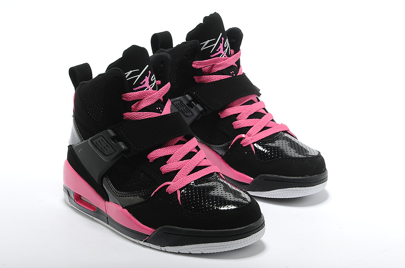 Retro Air Jordan Flight 4.5 New Black Pink For Women_05