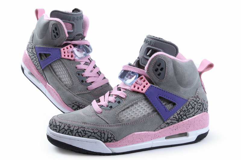 Retro Air Jordan Spizike Classic Grey Pink Purple For Women