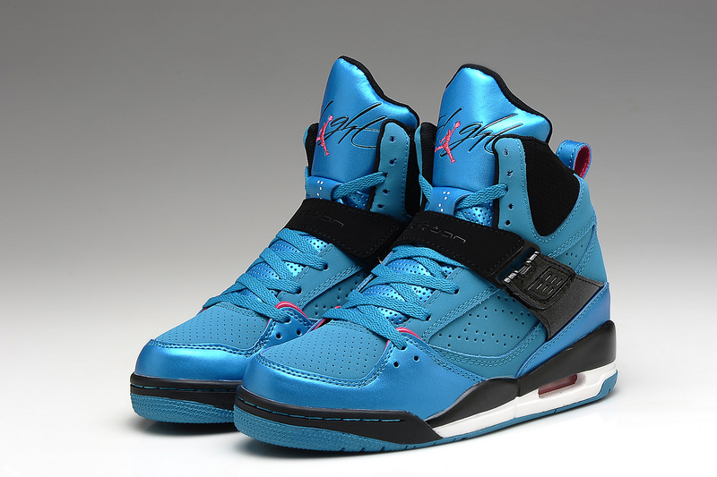 Retro Air Jordans 45 Flight Original Blue Black For Women