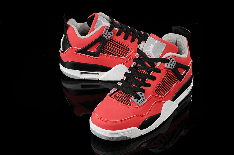 Retro Jordan 4 Original Red Black White For Women