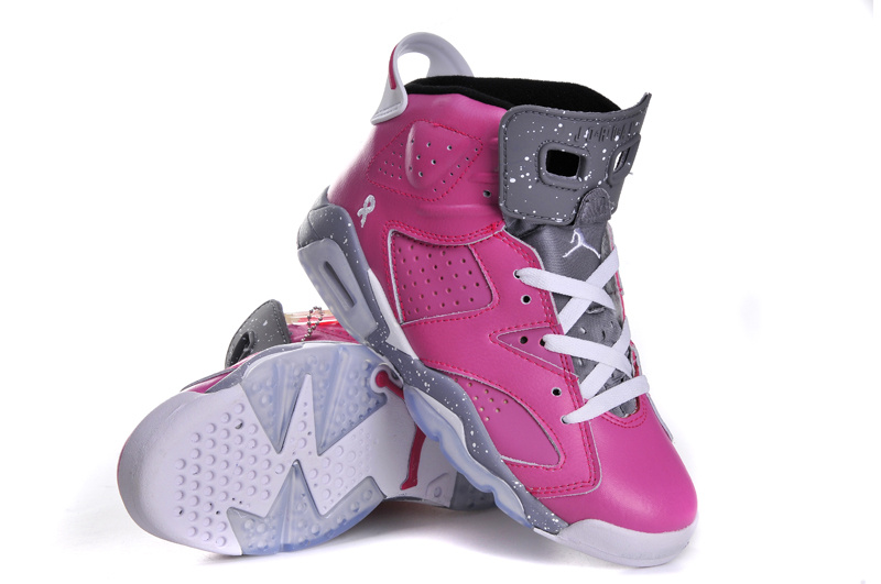 Retro Jordan 6 Original Red Grey White For Women