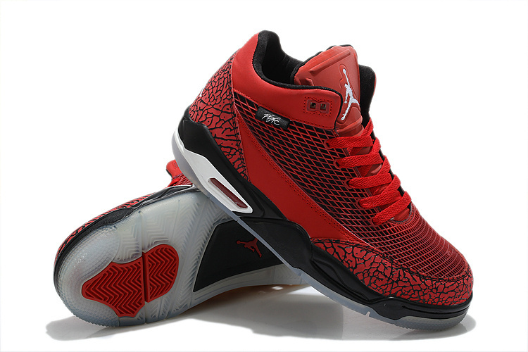 Special Jordan Flight Club 80S Red Black Sneaker