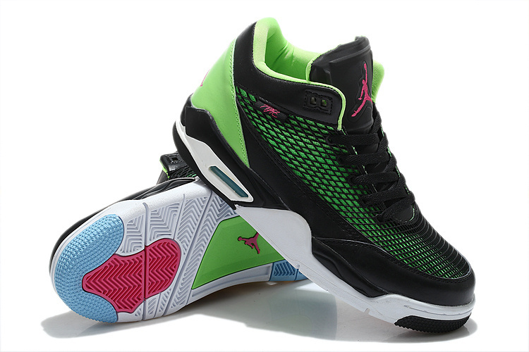 Special Jordans Flight Club 80S Black Green White Red Sneaker