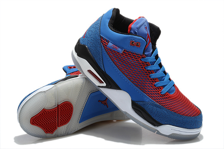 Special Jordans Flight Club 80S Blue Red White Sneaker