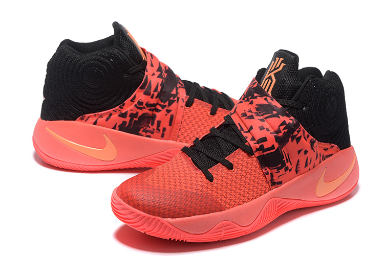 Women Nike Kyrie 2 Red Black Basketball Shoes