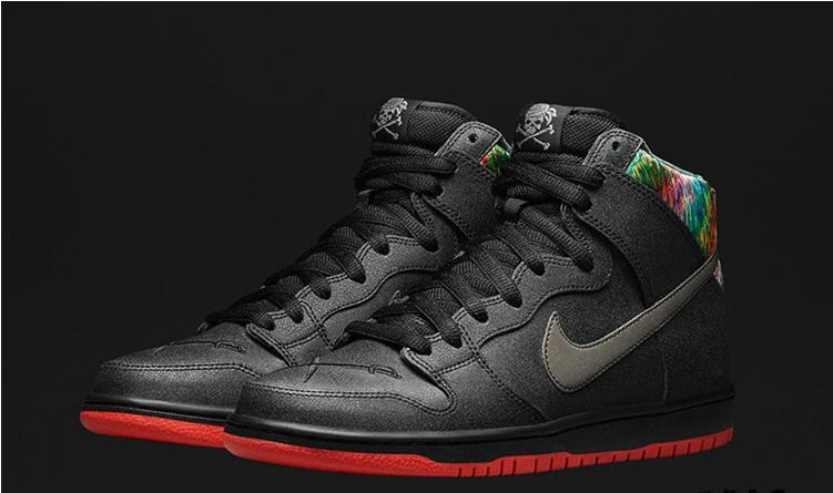 Women Nike Dunk High SB Gasparilla Spot Pirate Black Shoes