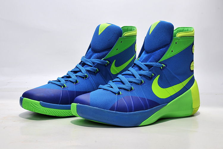 Nike Women Hyperdunk 2015 Blue Green Basketball Sneaker